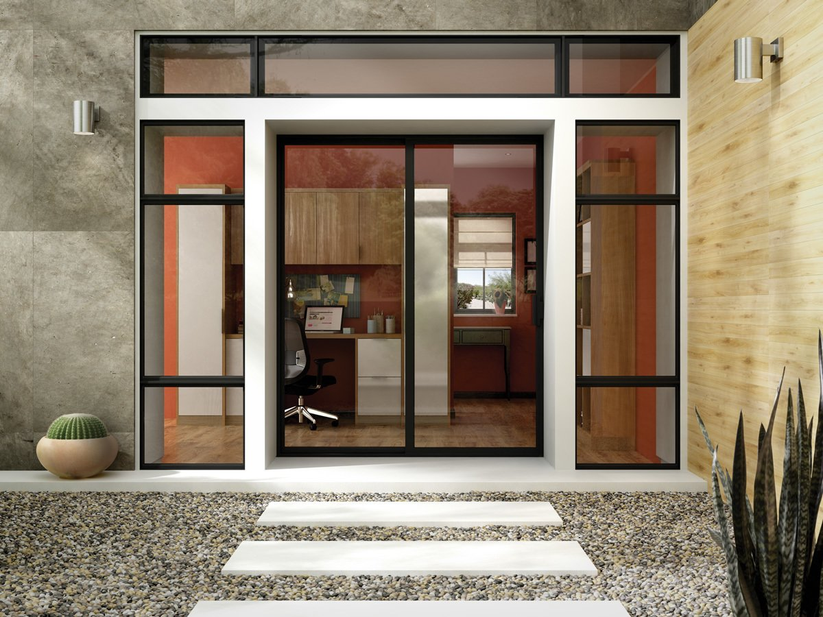 A Dark Bronze Anodized frame emphasizes the sleek lines of a Milgard Aluminum Patio Door, which offers durability and clean aesthetics.  Photo 2 of 10 in 10 Outdoor Living Trends That Bring Homeowners Blissfully Close to Nature