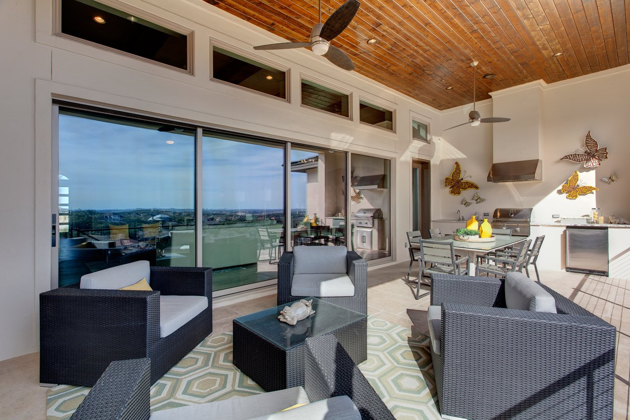 Milgard Moving Glass Walls leverage views of the surrounding area.  Photo 4 of 10 in 10 Outdoor Living Trends That Bring Homeowners Blissfully Close to Nature