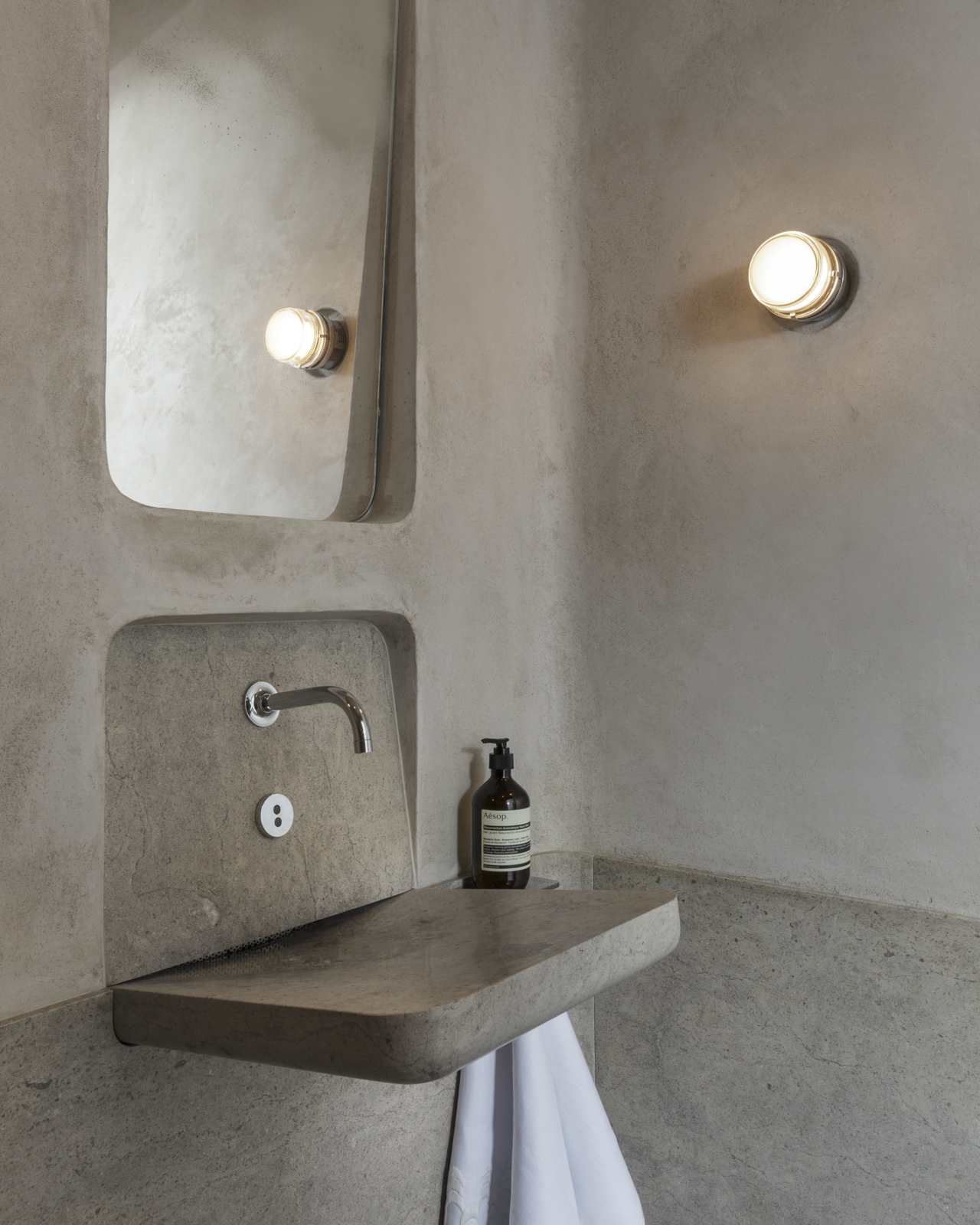 Inspiration for the Powder Room by David Bjorngaard and Stephen Stout came from trips to Rome and Milan.  Photo 14 of 17 in Peek Inside the 2017 San Francisco Decorator Showcase