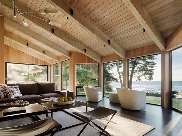 A renovation of one of Sea Ranch's homes was completed over the course of four years by Butler Armsden Architects and Leverone Design; their design employed similar materials and aesthetics as the original.