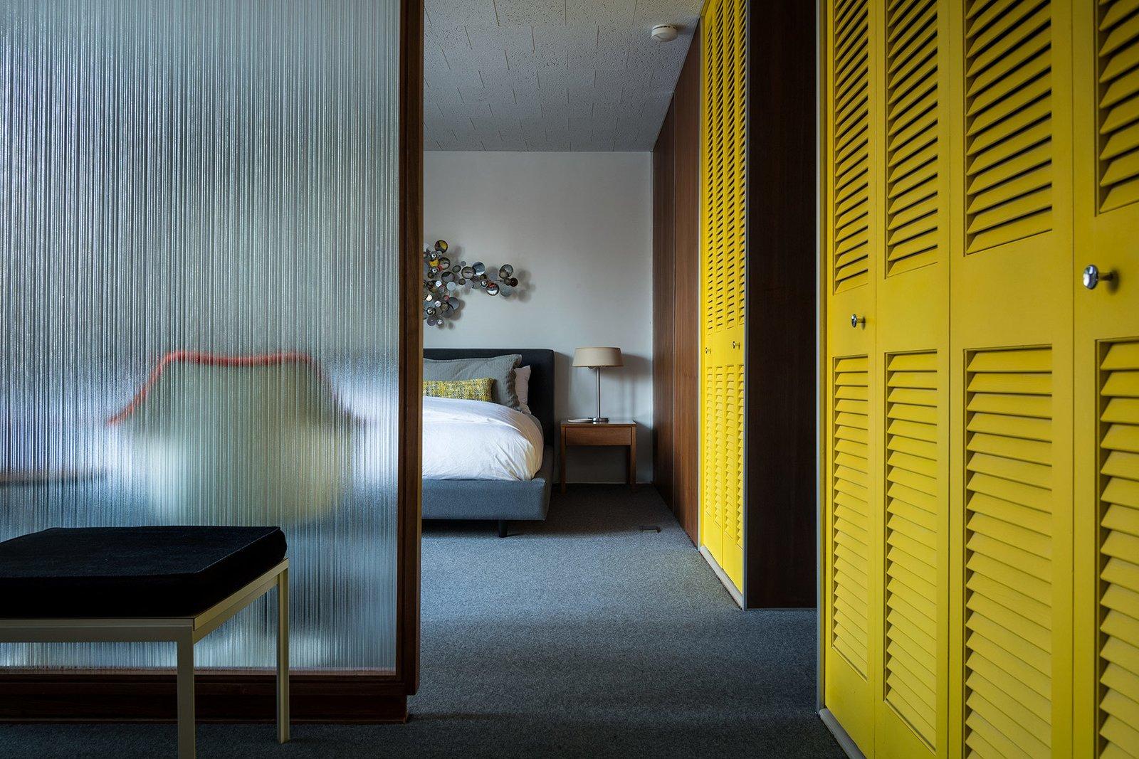 Emil Tessin Frost House midcentury prefab bedroom