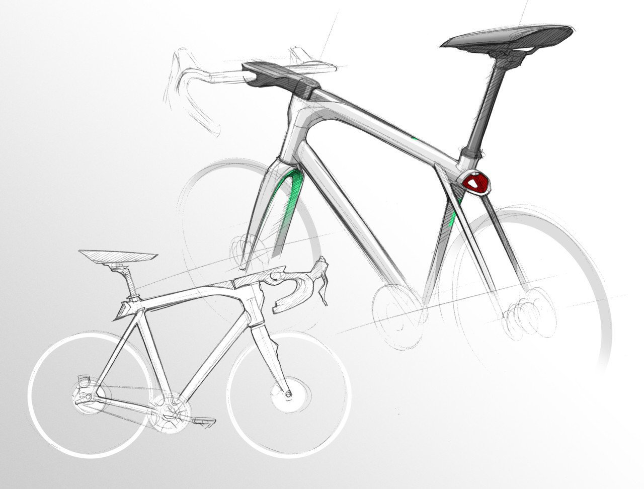 A front-hub dynamo charges the internal battery while peddling, providing enough recharge power to operate the bicycle's onboard computer.  Photo 7 of 8 in VOLATA: The App Controlled Bicycle