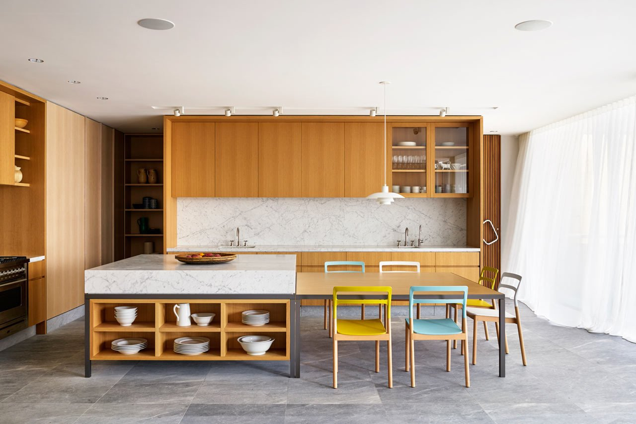 The interior feels expansive as furnishings were kept to a minimum. #designmilk #bondibeach #tobiaspartners  Kitchen ideas from A Dream-Worthy Beach House at Bondi Beach
