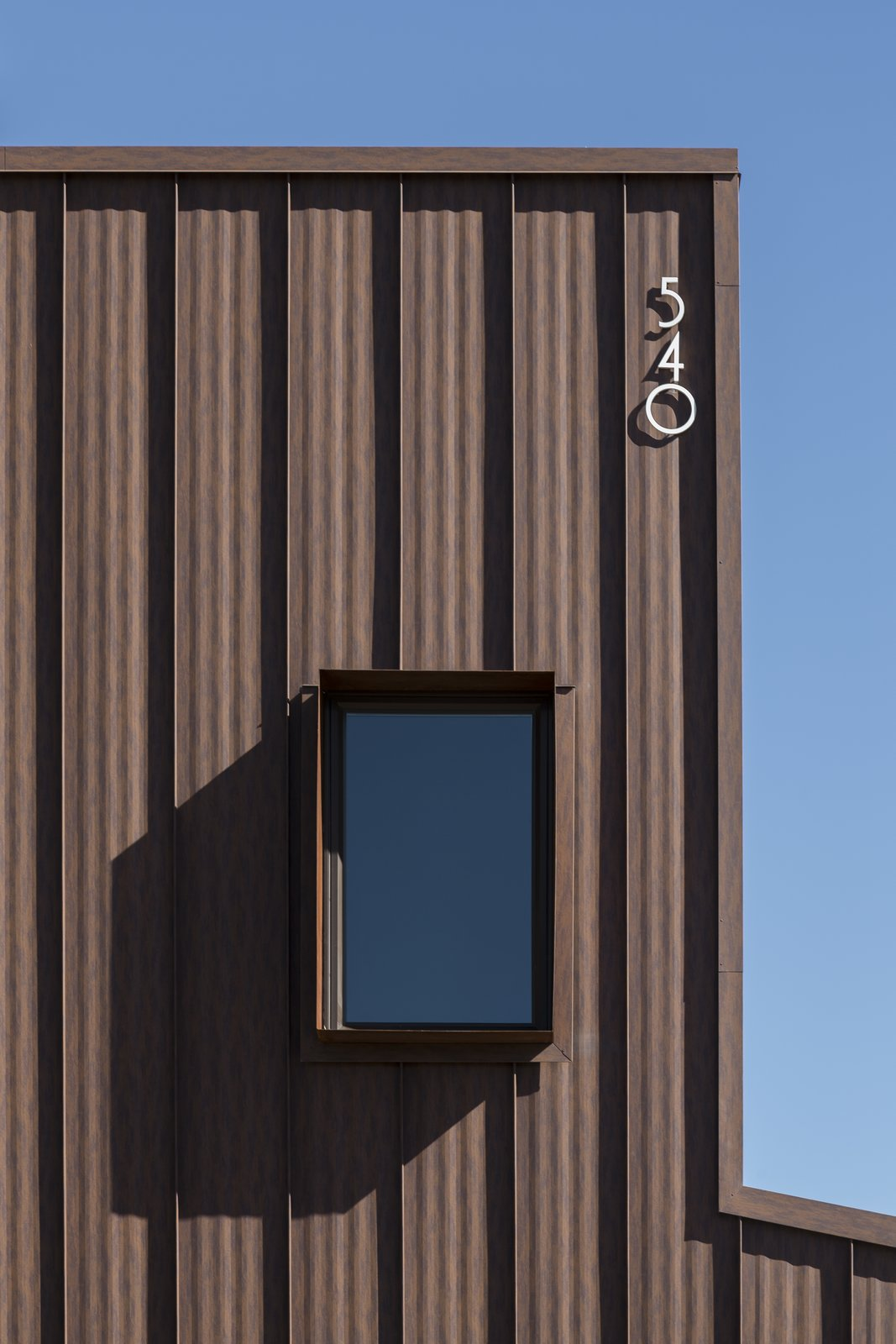 Windows, Casement Window Type, and Metal Custom Cor-Ten steel window box detail  Uptown Row