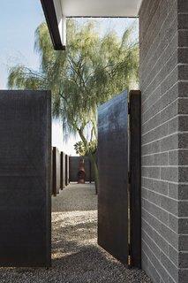 Cor-ten steel gate