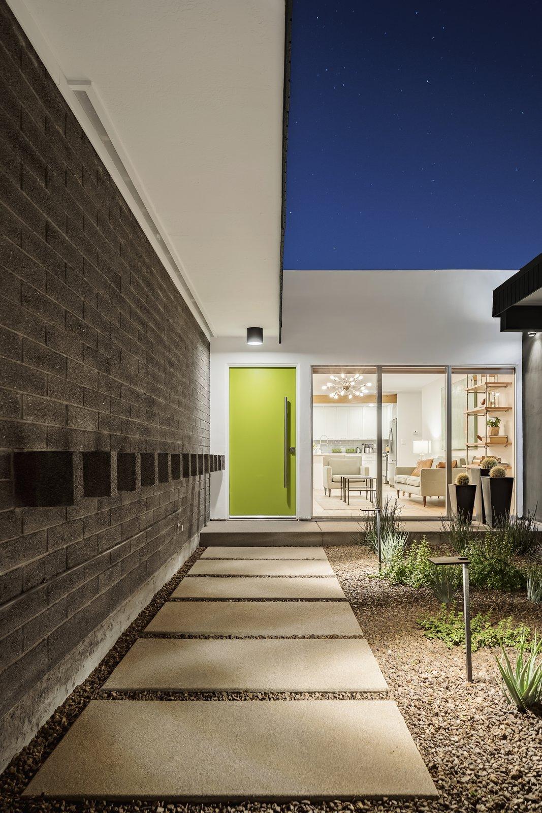 Outdoor, Walkways, Gardens, Pavers, Concrete, Landscape, and Desert Front court walkway  Best Outdoor Landscape Desert Photos from Beadle Buddy