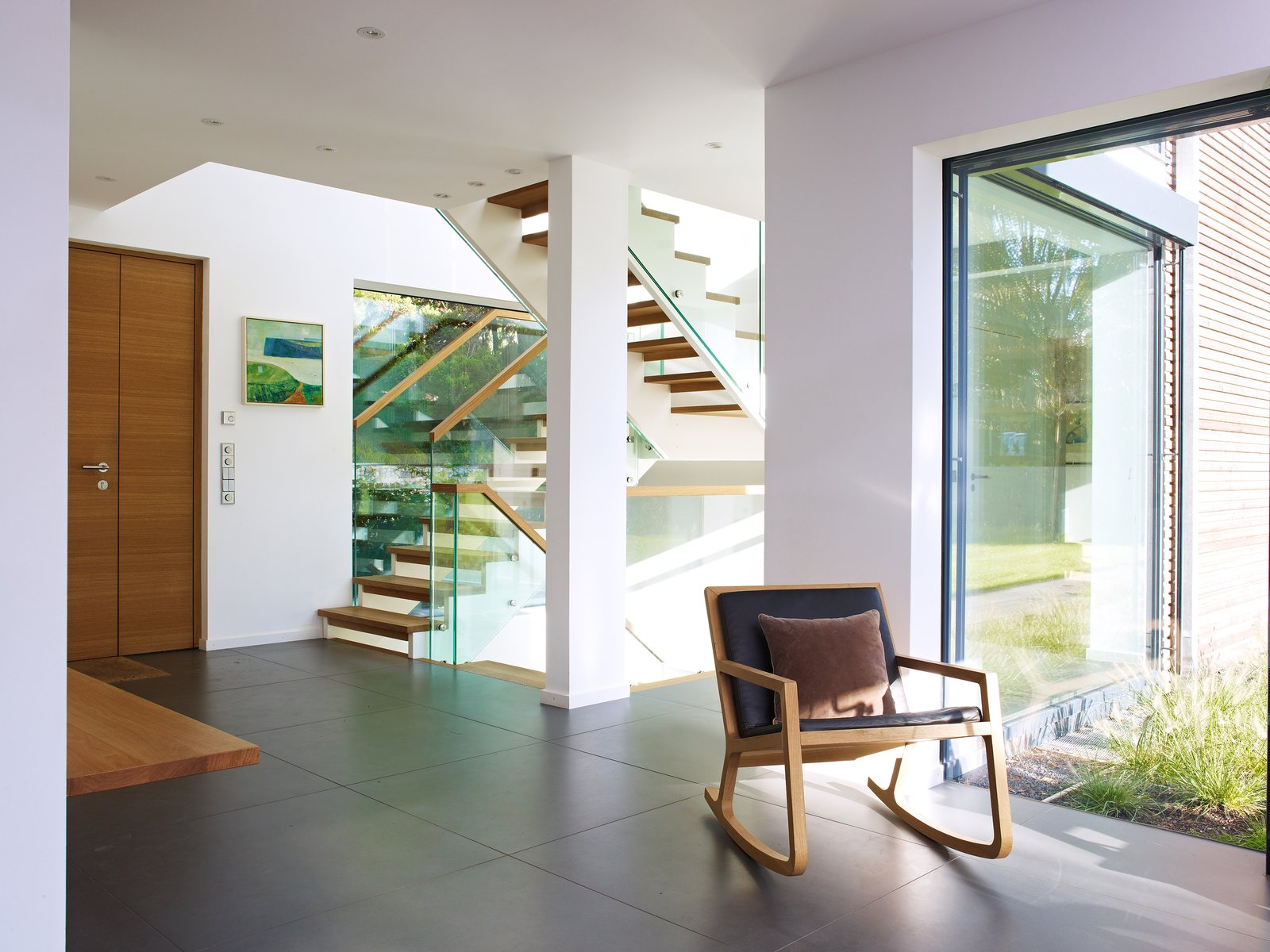 Open stair with glass railing  Gallery