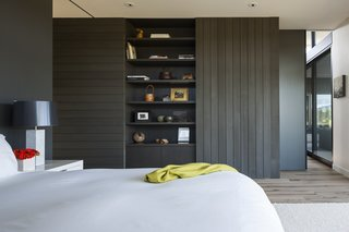 Master bedroom storage wall