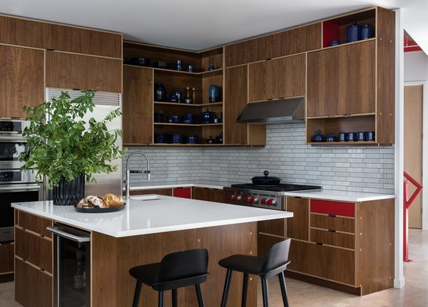 Kitchen, with cabinets by Kerf
