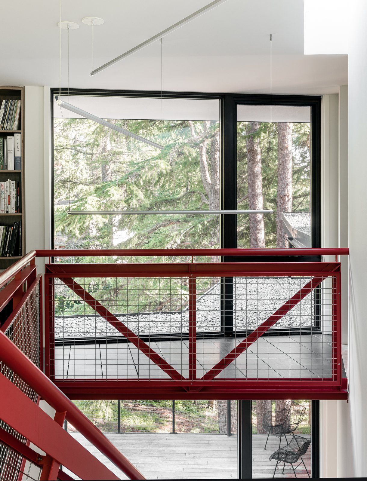 Staircase Upper Landing  Tree House by DeForest Architects