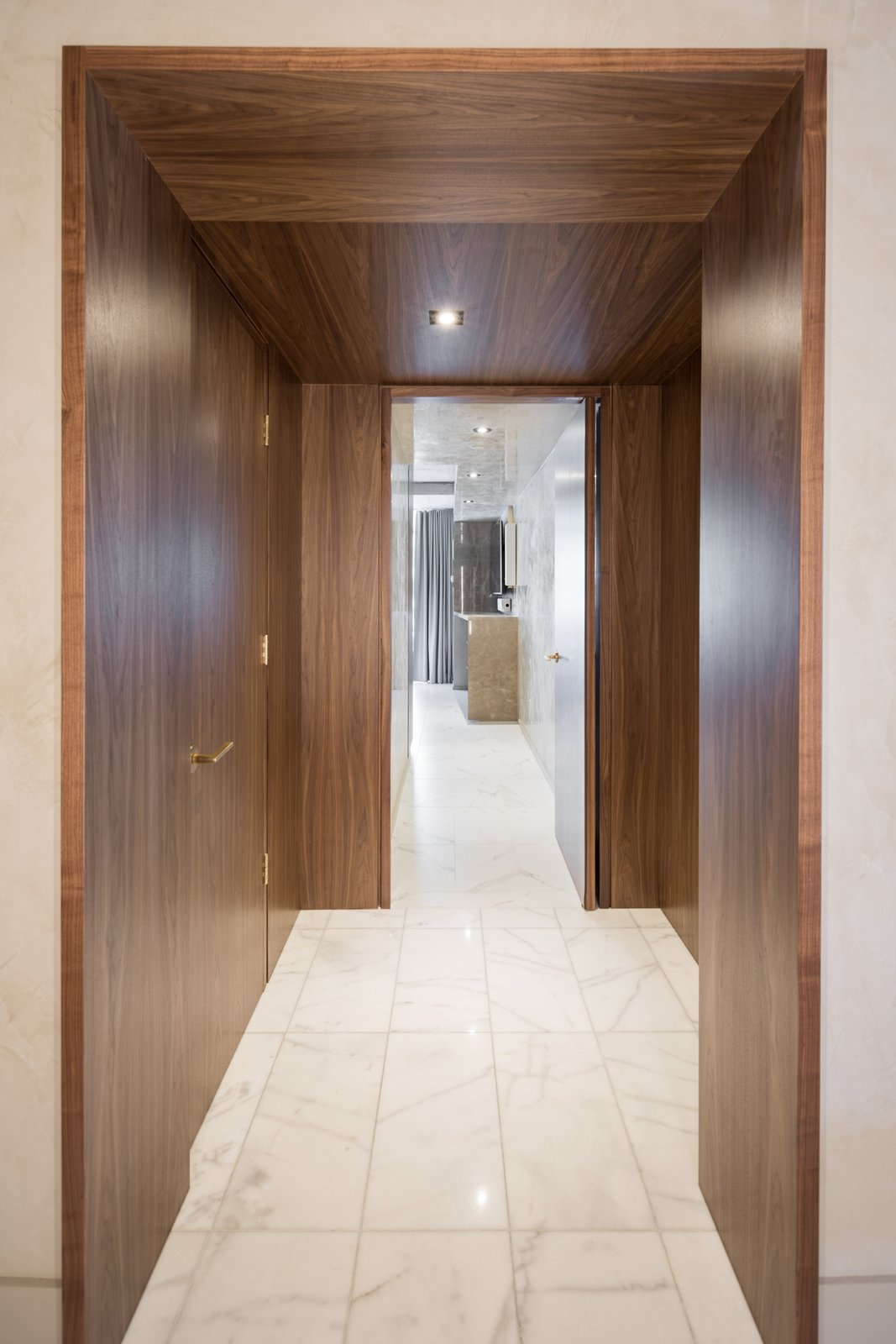 Entry to the Master Suite.  Thompson Hotel Private Suite by ANTHONY PROVENZANO ARCHITECTS