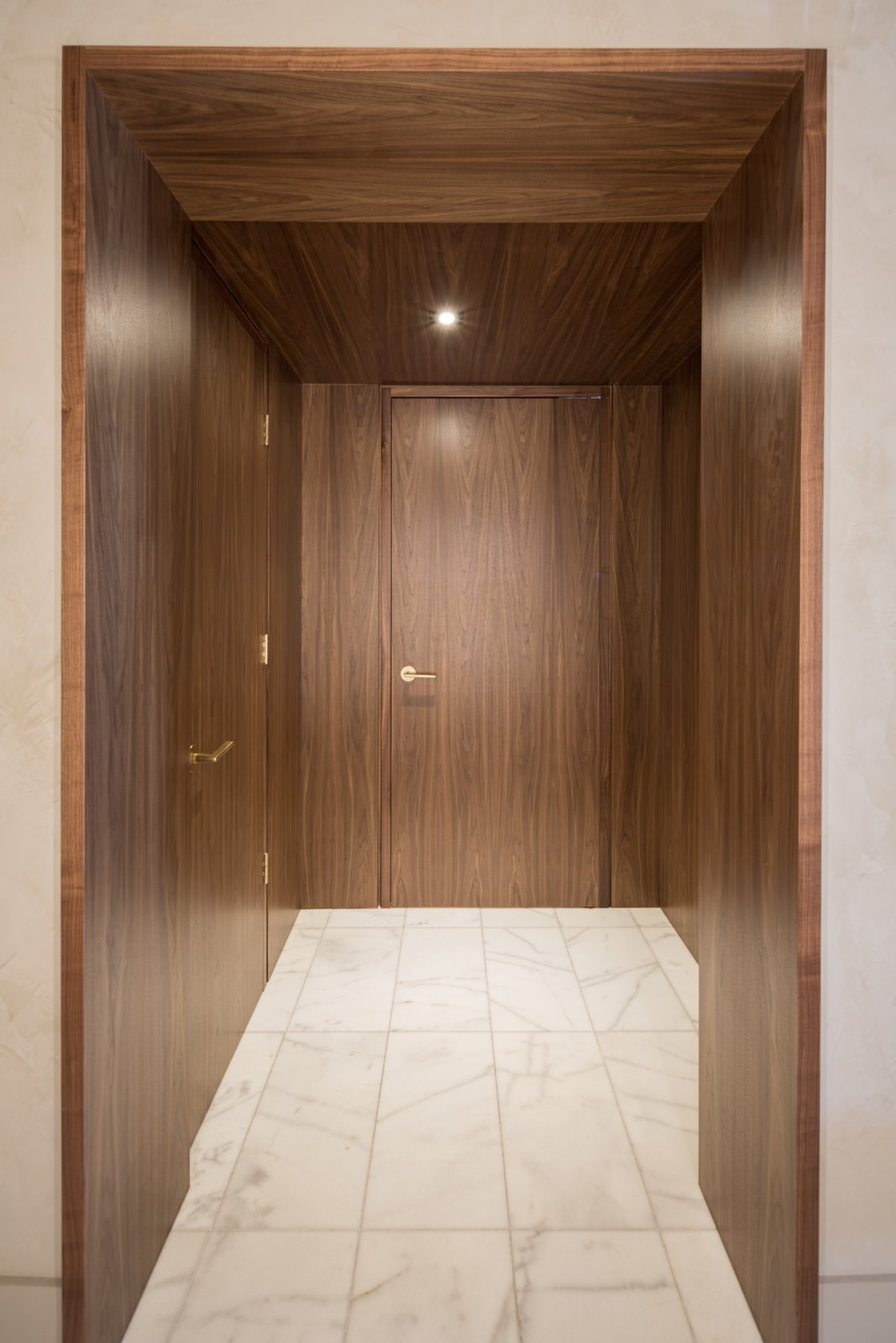 Here is the entry to the Master Suite which is where we connected the two separate suites, to the left is the entry closet.  Thompson Hotel Private Suite by ANTHONY PROVENZANO ARCHITECTS
