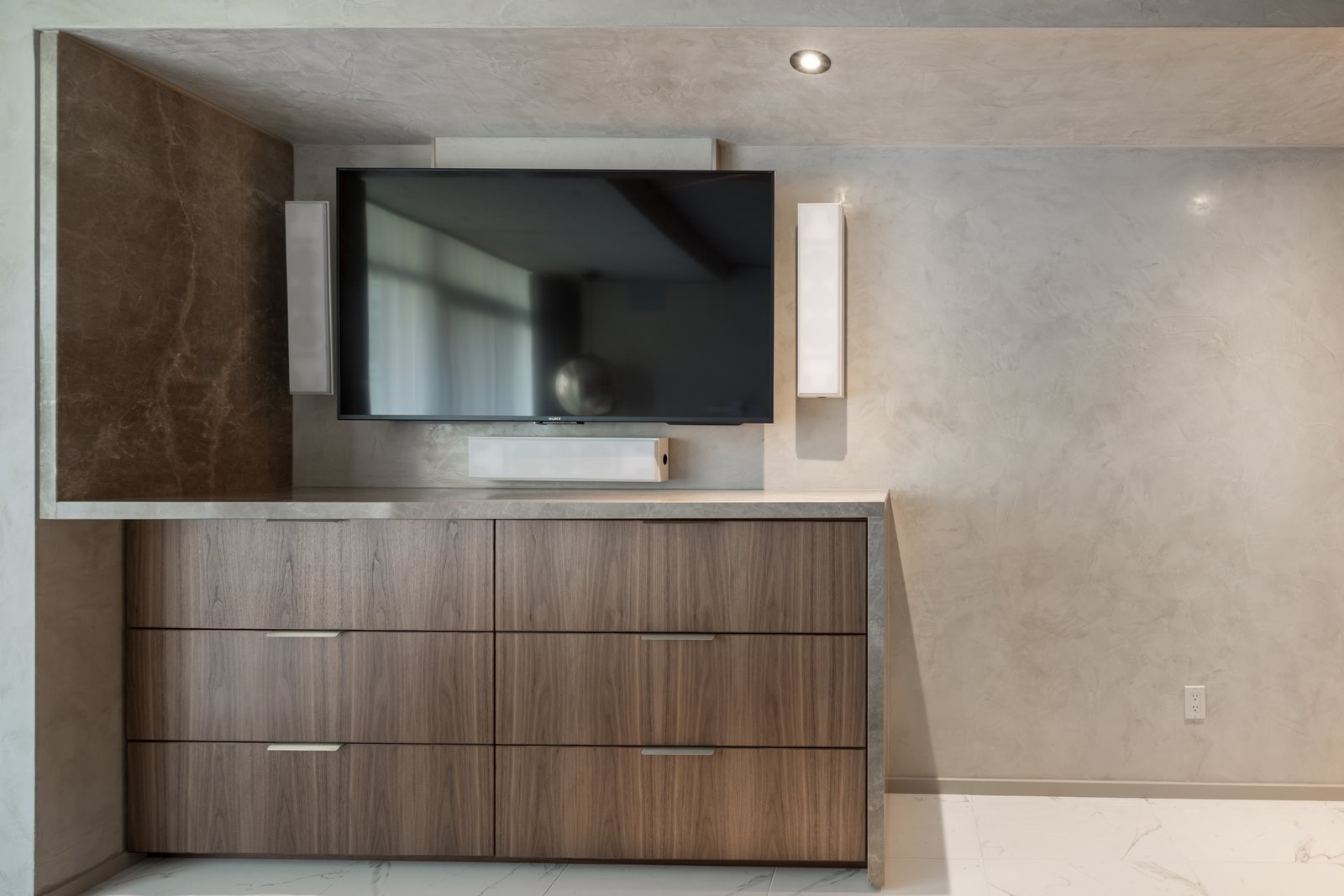 Master Suite TV Unit  Thompson Hotel Private Suite by ANTHONY PROVENZANO ARCHITECTS