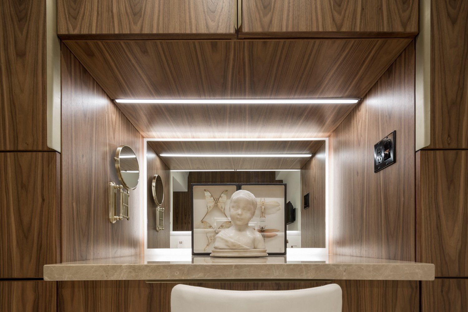 The Make-Up Counter  Thompson Hotel Private Suite by ANTHONY PROVENZANO ARCHITECTS