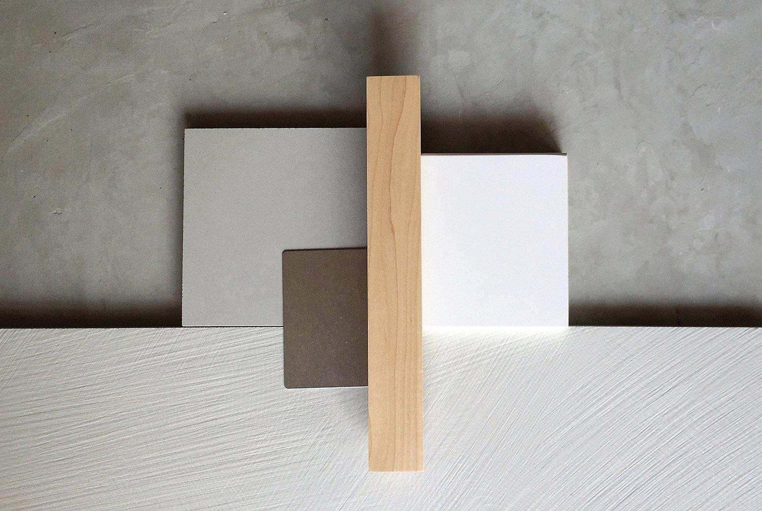 [wood, tile, concrete + steel / interior finishes]  Villa Park Modern by MYD studio, inc.