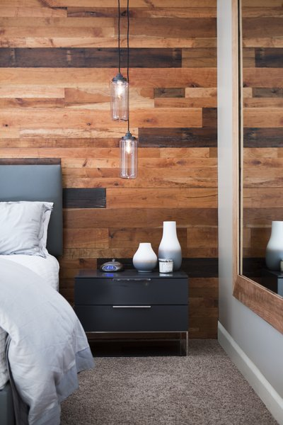 Cherry + Reclaimed Barnwood  Wood Walls