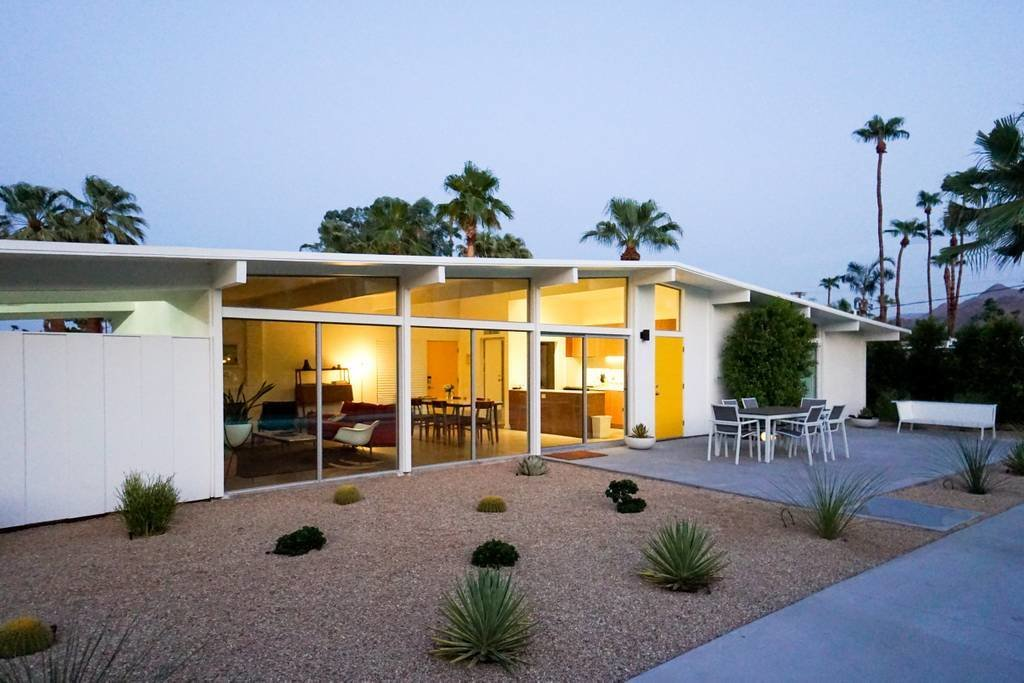 Exterior, Stucco Siding Material, Wood Siding Material, Gable RoofLine, and House Building Type 1956 William Krisel FAIA for Alexander Construction Company  Photos from The 505 - Gorgeous Mid-Century Retreat