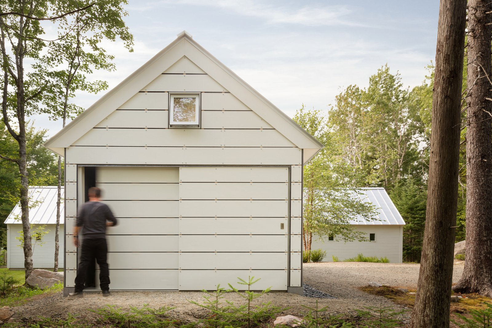 Outdoor, Side Yard, Walkways, and Trees Barn Storage  The Long Studio by 30X40 Design Workshop