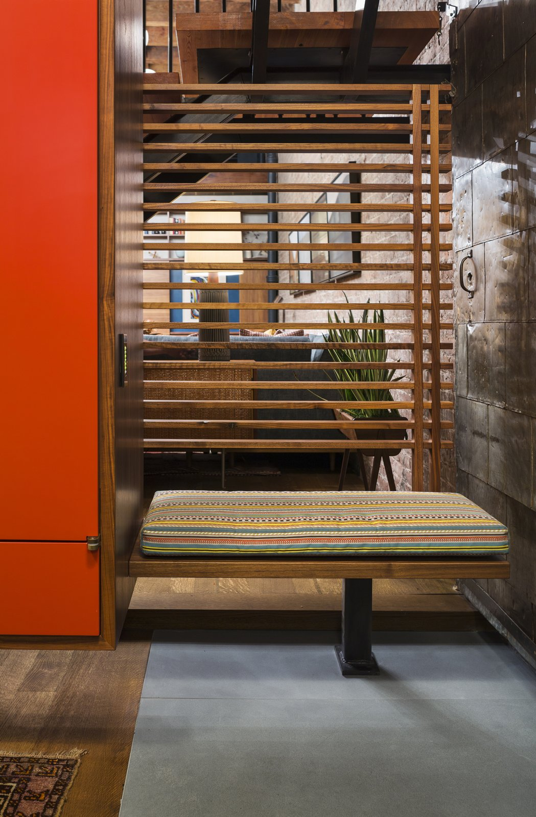 Varying degrees of visual continuity is a theme throughout the apartment.  Tribeca Loft by Andrew Franz Architect PLLC
