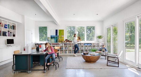 Once the pre-existing garage was converted into a school room for the younger children.