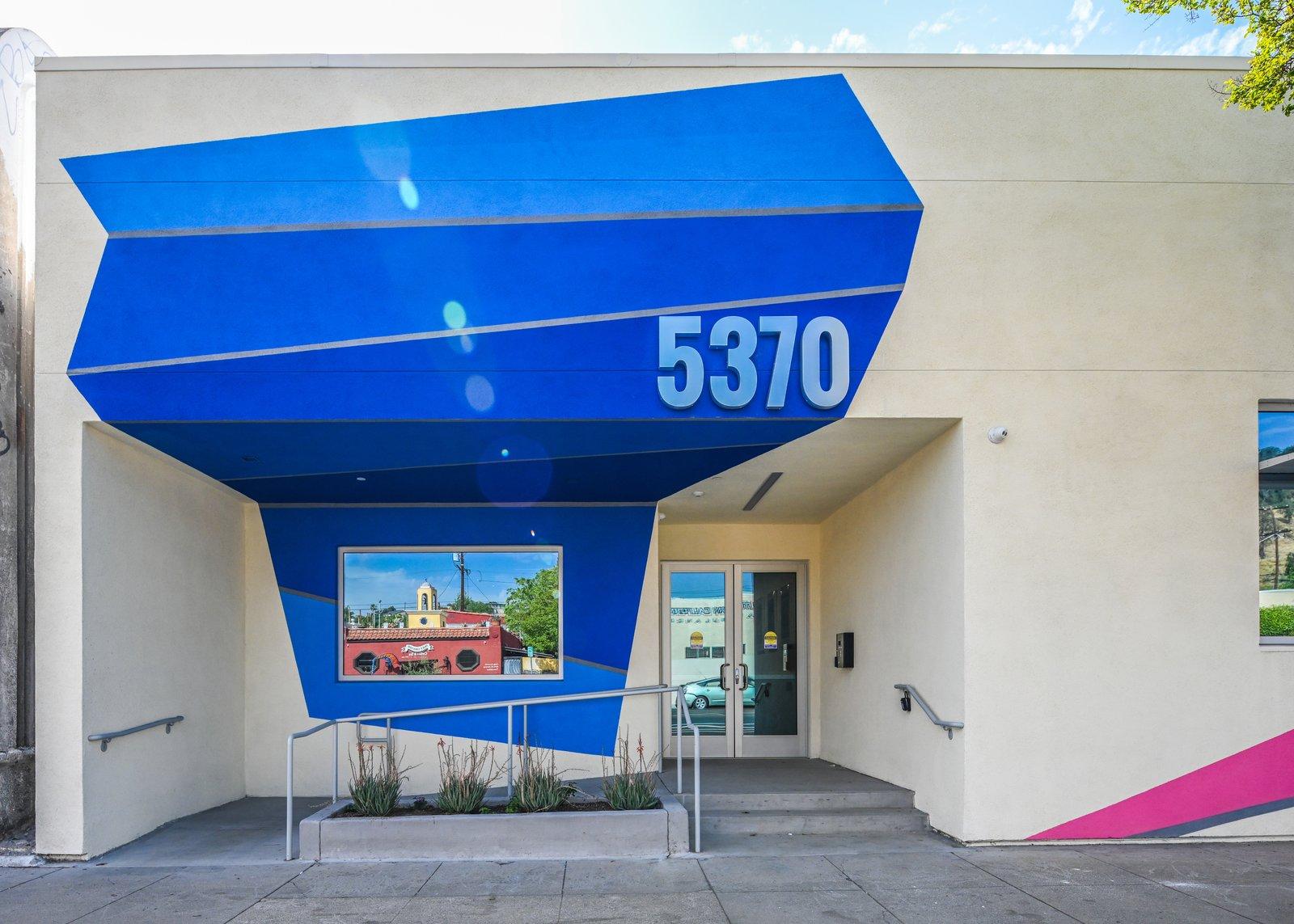 Doors, Metal, Swing Door Type, and Exterior reimagined entryway HATCHlabs  HATCHlabs @LA Bioscience HUB