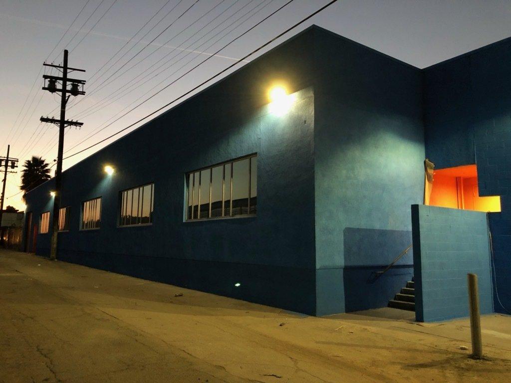 Rear Alley Entrance at Dusk.  HATCHlabs @LA Bioscience HUB