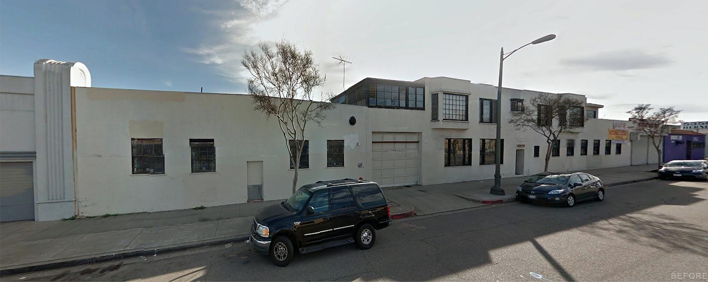 Building facade Prior to Renovation  HATCHlabs @LA Bioscience HUB