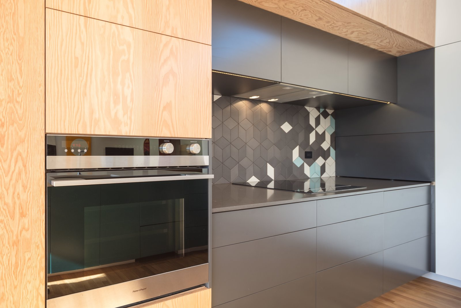 Marine Grade plywood cabintery + FisherPaykel appliances   The Beach Lab by Surfside Projects