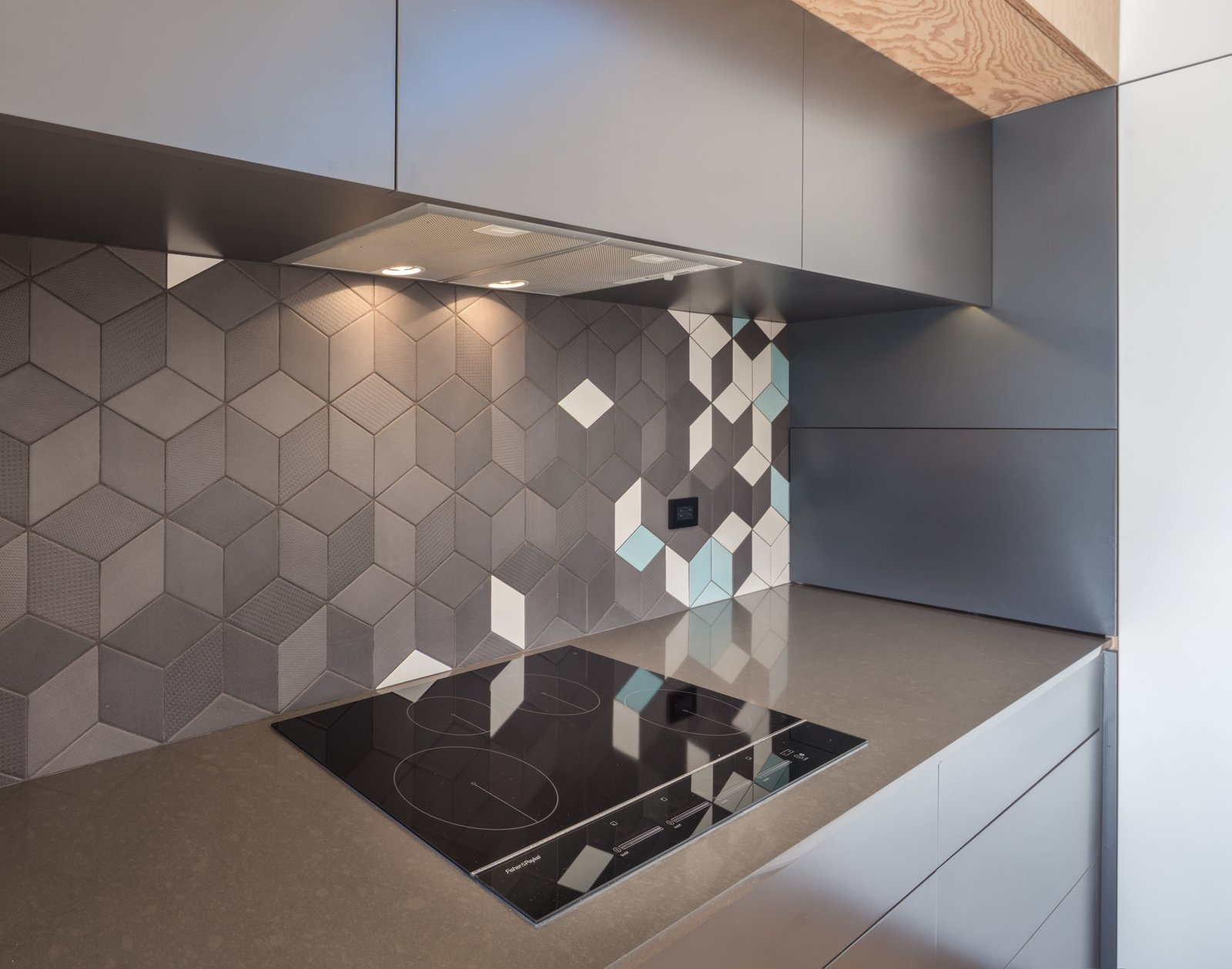 Induction cook top by FisherPaykel + Mutina Tiles  The Beach Lab by Surfside Projects
