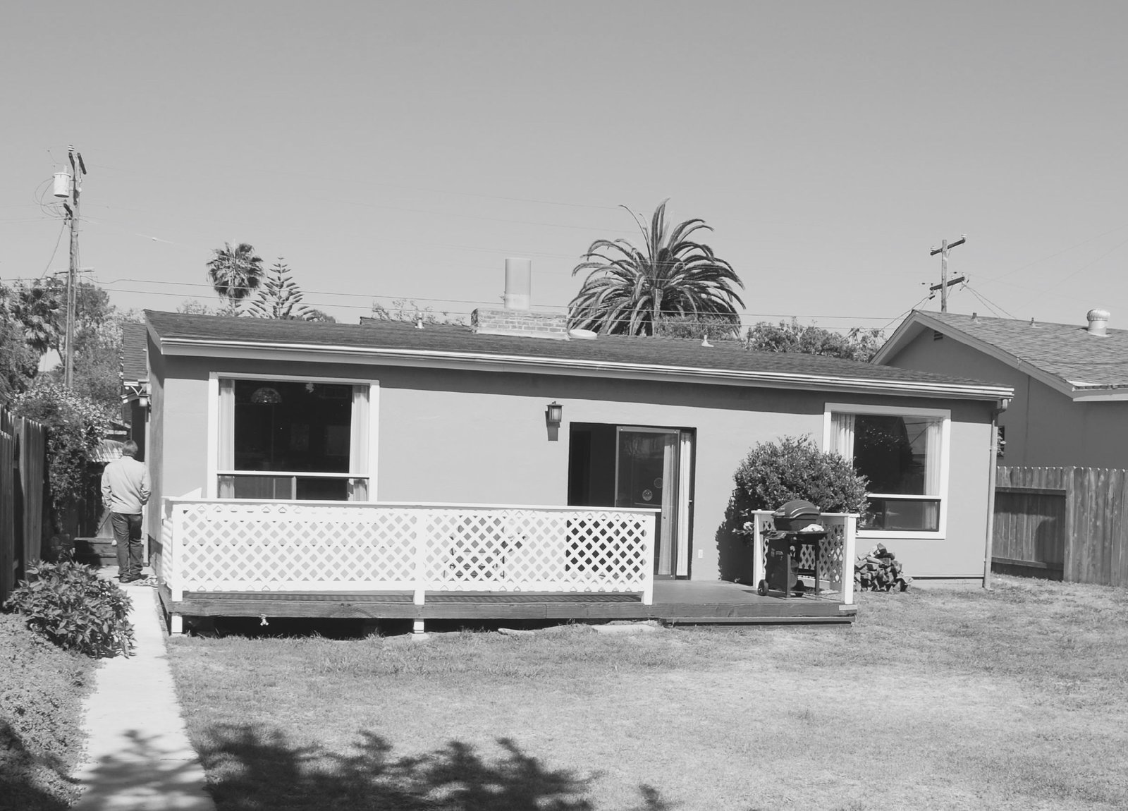 Before- 60's rear addition  The Beach Lab by Surfside Projects
