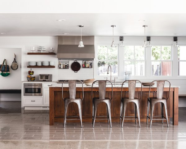 kitchen walnut island with stools