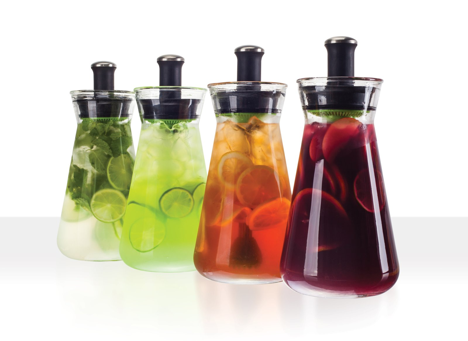 The Z54 carafe is a fresh and healthy alternative to HFCS soft drinks.  Muddle, mix and serve from the 54 oz glass carafe. Pulls after-hours duty on mojitos, sangria and margaritas.  zinganything.com  Brands to admire from Studio Murmur