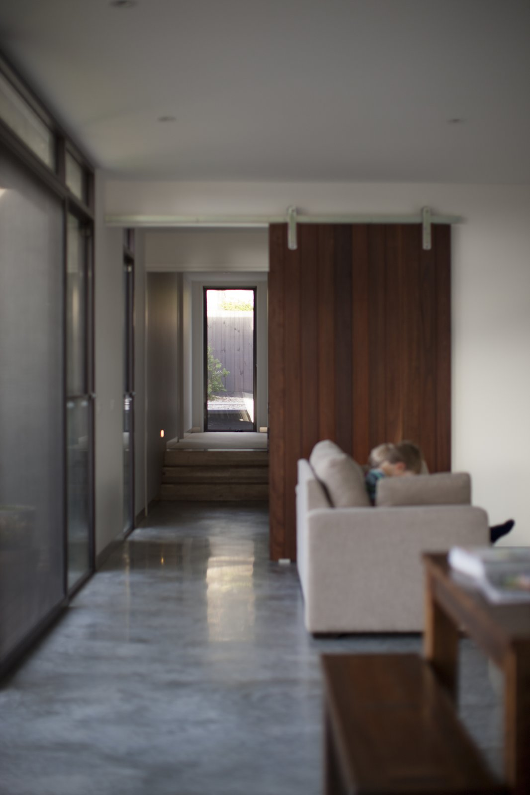 Feature Internal Sliding Door & Polished Concrete Floors  Pod Residence by Bespoke Architects