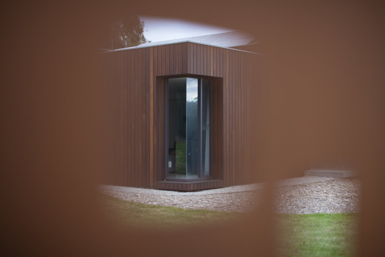 View of butt jointed corner window  Pod Residence by Bespoke Architects