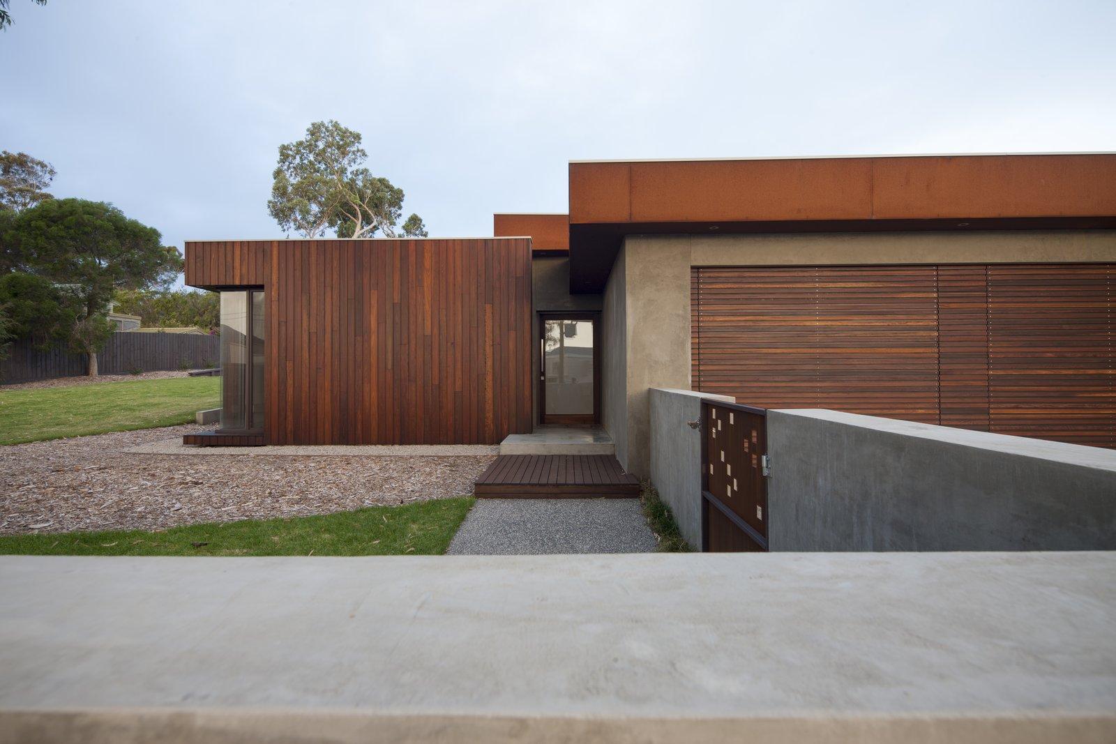 Spotted Gum Cladding and Coreten Eyelash  Pod Residence by Bespoke Architects