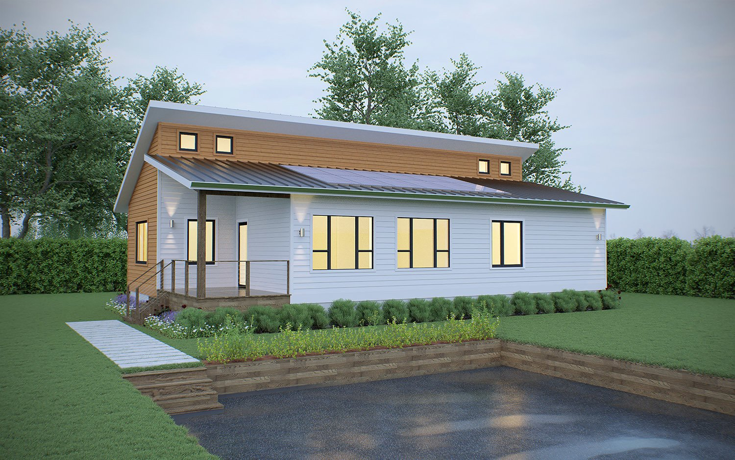 Ridgeline E  Photo 2 of 5 in Deltec Homes Introduces Two New Models, Including Modern Farmhouse