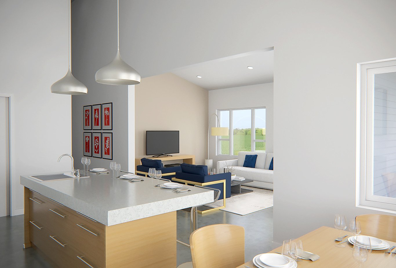 Ridgeline E Interior  Photo 3 of 5 in Deltec Homes Introduces Two New Models, Including Modern Farmhouse