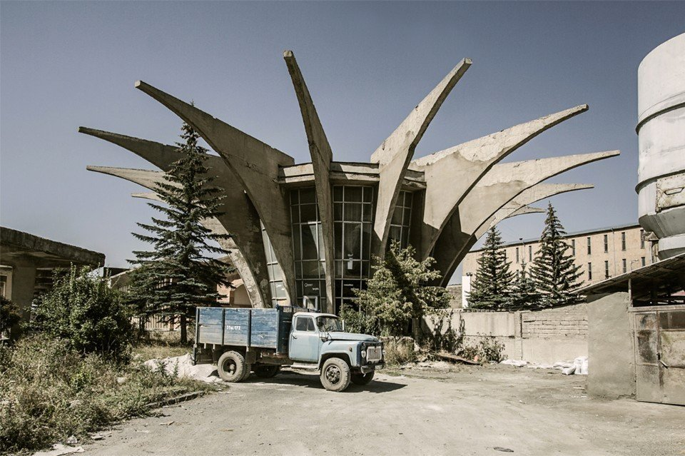 Henrik Arakelyan, Central bus station (now disused), 1978. Hrazdan, Armenia  Brutes