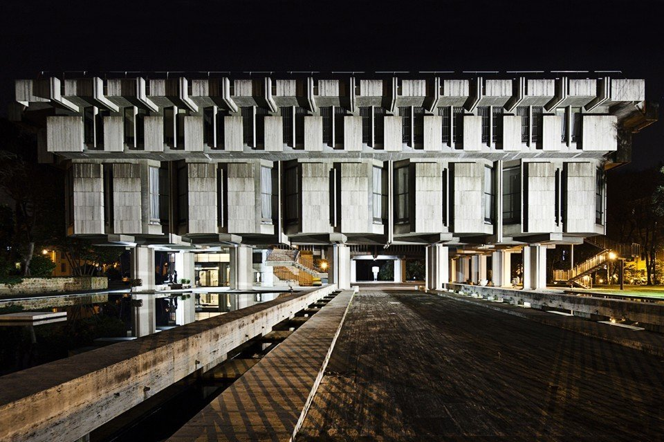 Sir Basil Spence, British Embassy, 1971. Rome, Italy  Brutes
