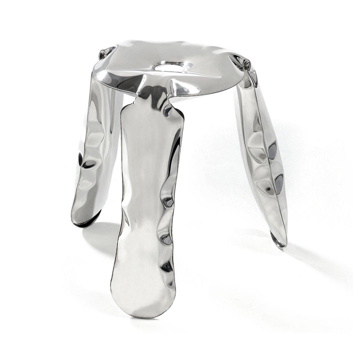 Inflated metal stool by OSKAR ZIETA  Pneumatic Design