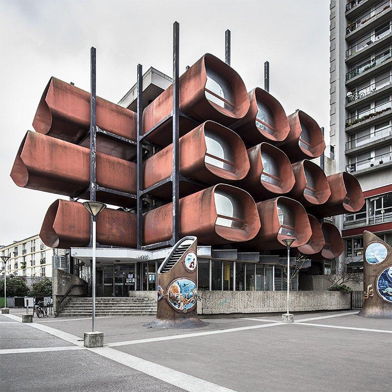 Montreuil - Conservatoire de musique & de danse.  Claude Le Goas, architect  Metabolist Architure