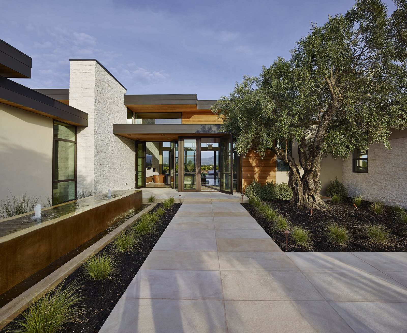 Modern Residence Entry  Modern Tranquility by Taylor Lombardo Architects