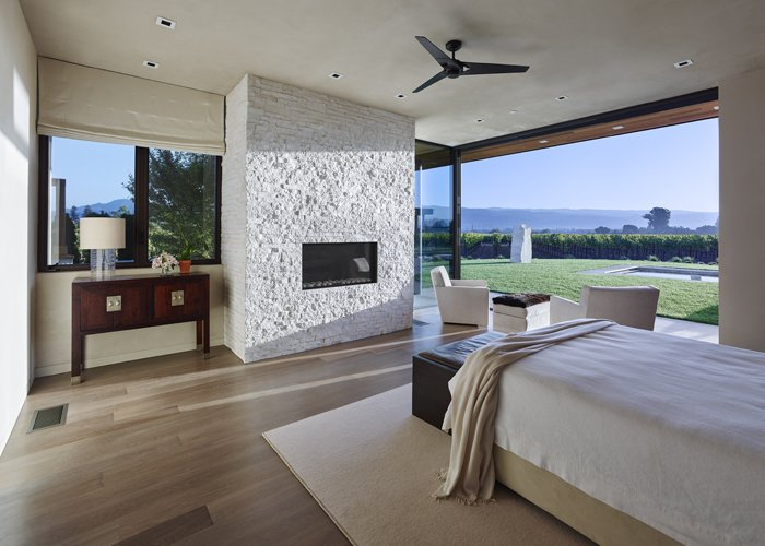 Modern Residence Master Bedroom  Modern Tranquility by Taylor Lombardo Architects