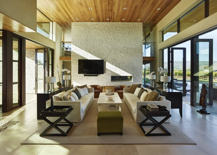 Modern Residence Great Room  Modern Tranquility by Taylor Lombardo Architects