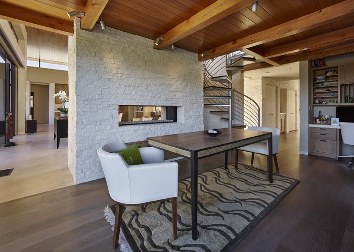 Modern Residence Study / Home Office  Modern Tranquility by Taylor Lombardo Architects