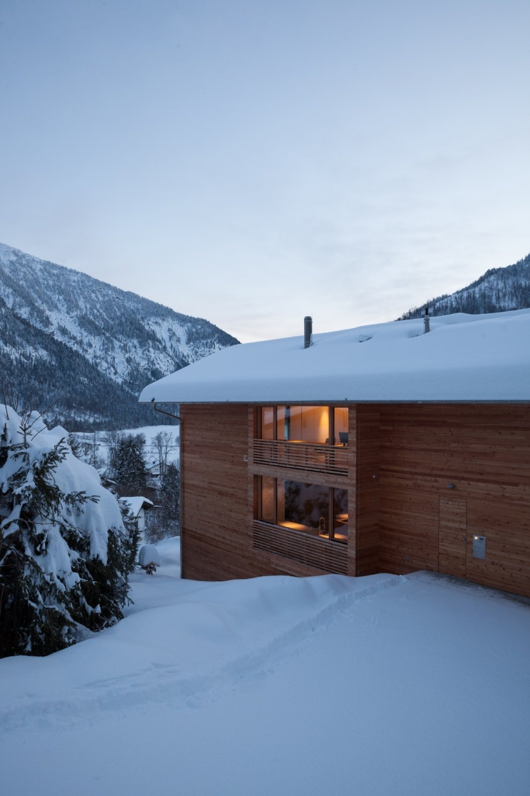 German architecture firm Beer Bembé Dellinger designed this vacation getaway in Bayrischzell, Bavaria, for a couple from Munich.   Photo by Sebastian Schels  Houses from Haus Z2 in Bayrischzell