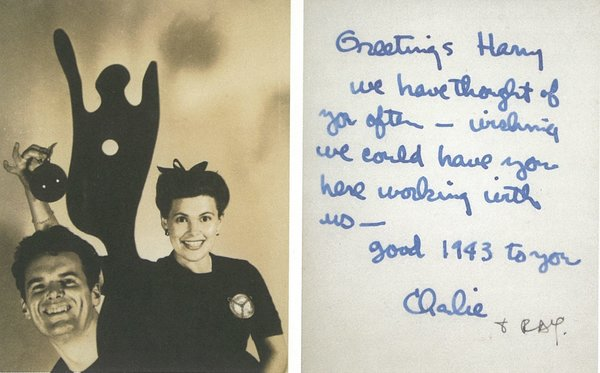 Christmas card from Charles and Ray Eames to Harry Weese, 1942  Photo 7 of 21 in How American Modernism Came to the Mountains