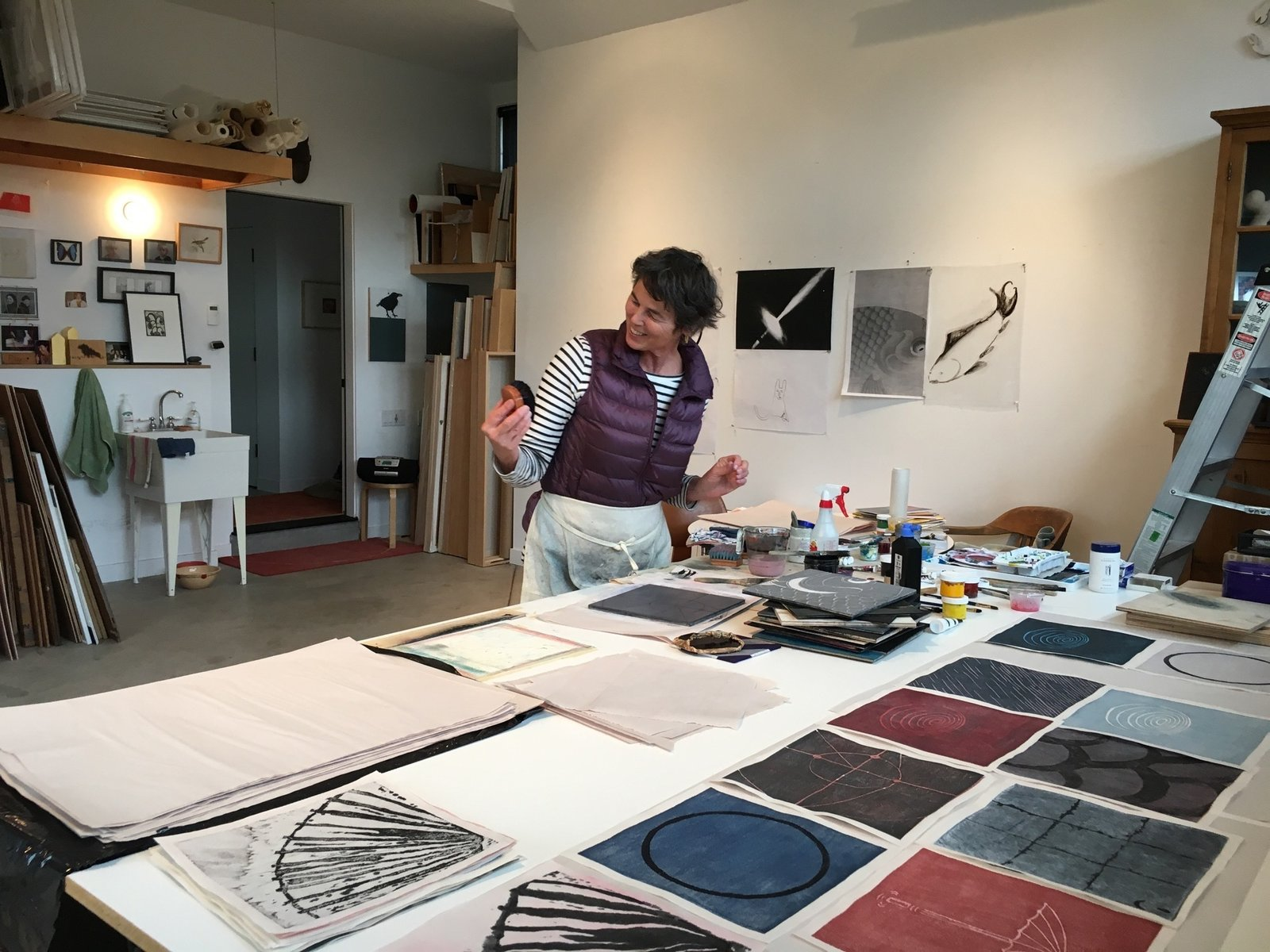 Marcia Weese in her studio in Carbondale, Colorado  Photo 7 of 16 in Growing Up Weese