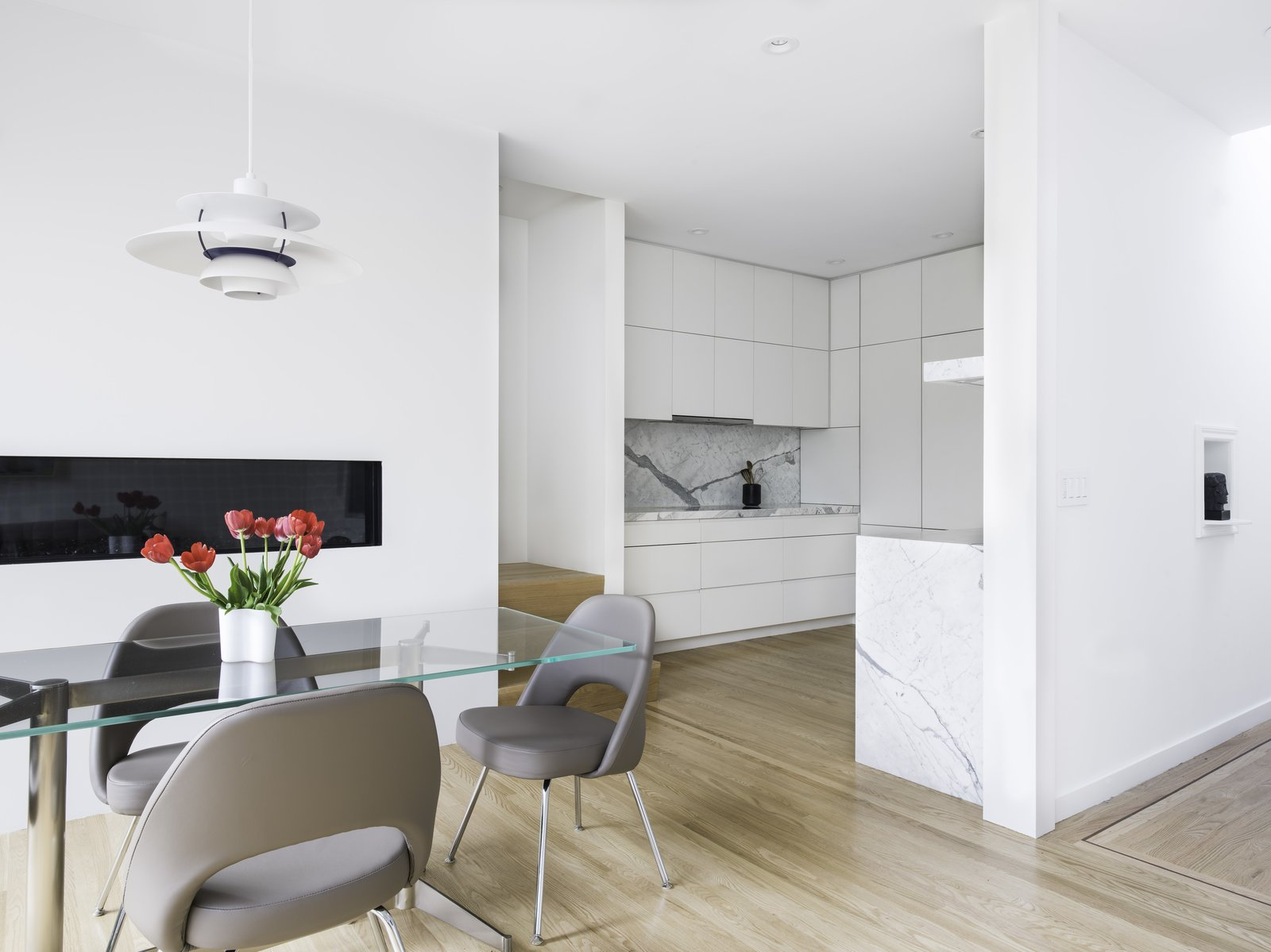 View of the Kitchen from the Dining Room.  Telegraph Hill Periscope by Samaha+Hart Architecture