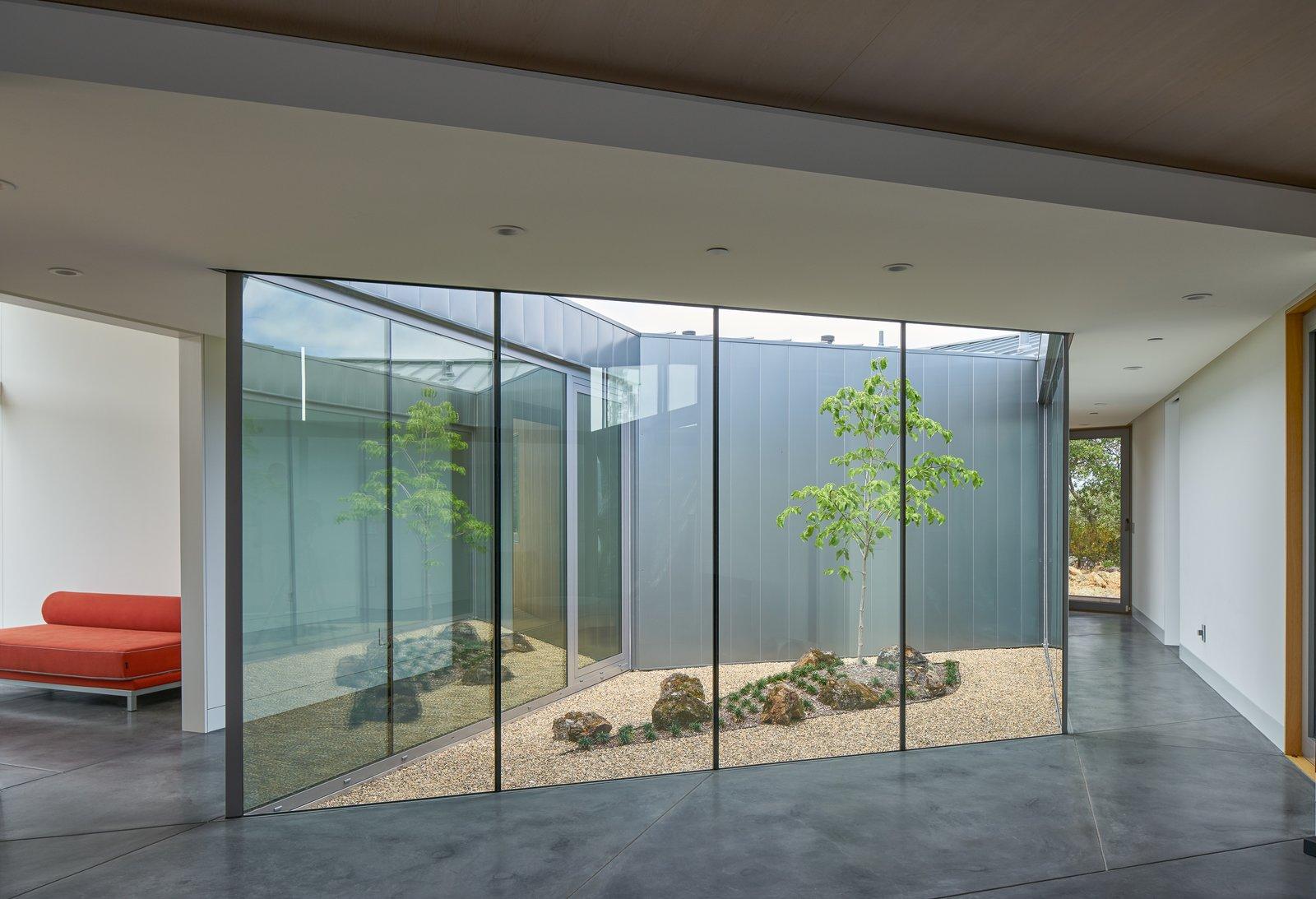 Hallway interior, atrium  Lake Berryessa Custom Home by Centric General Contractors